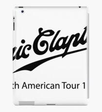 eric clapton tour  iPad Case/Skin