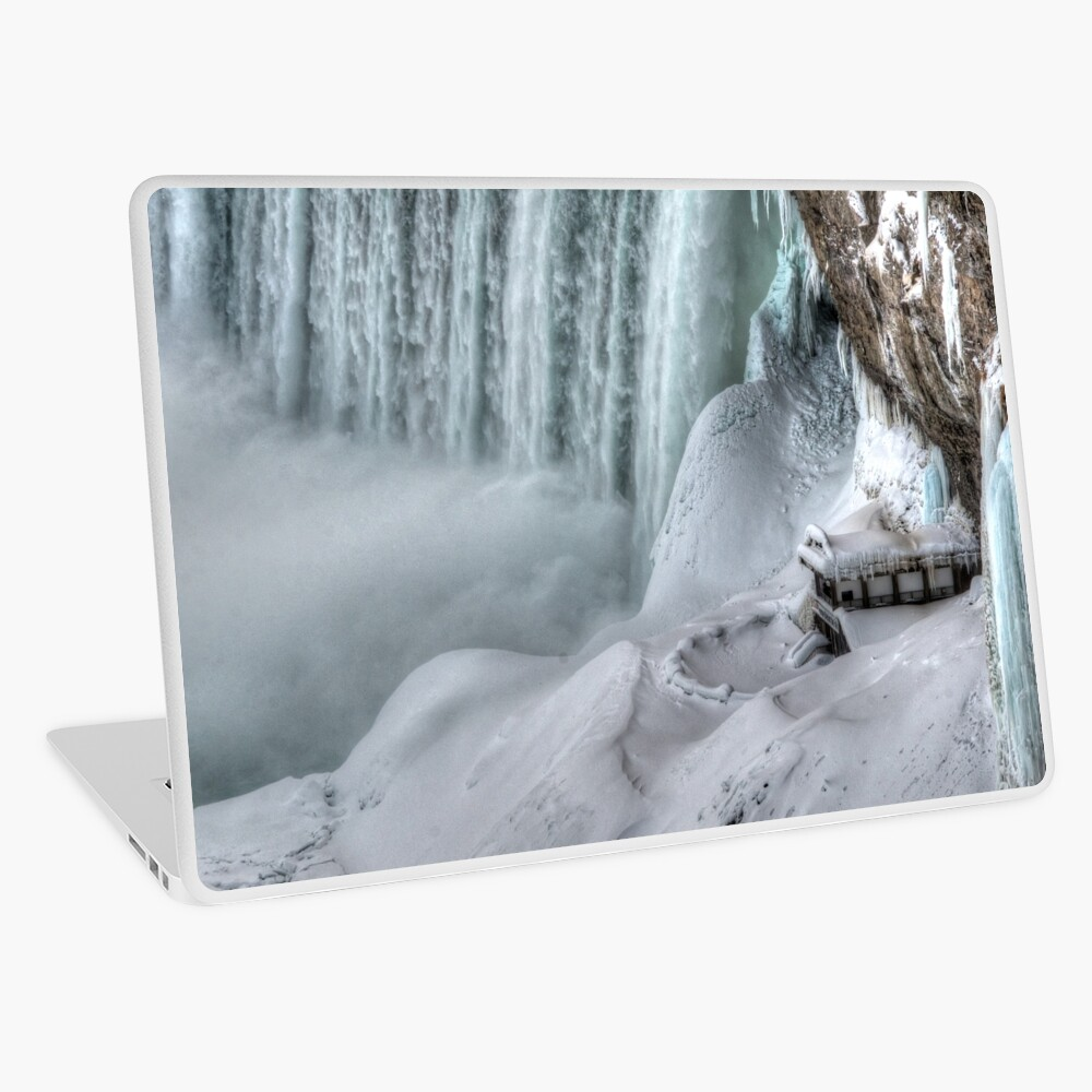 House by the falls Laptop Skin