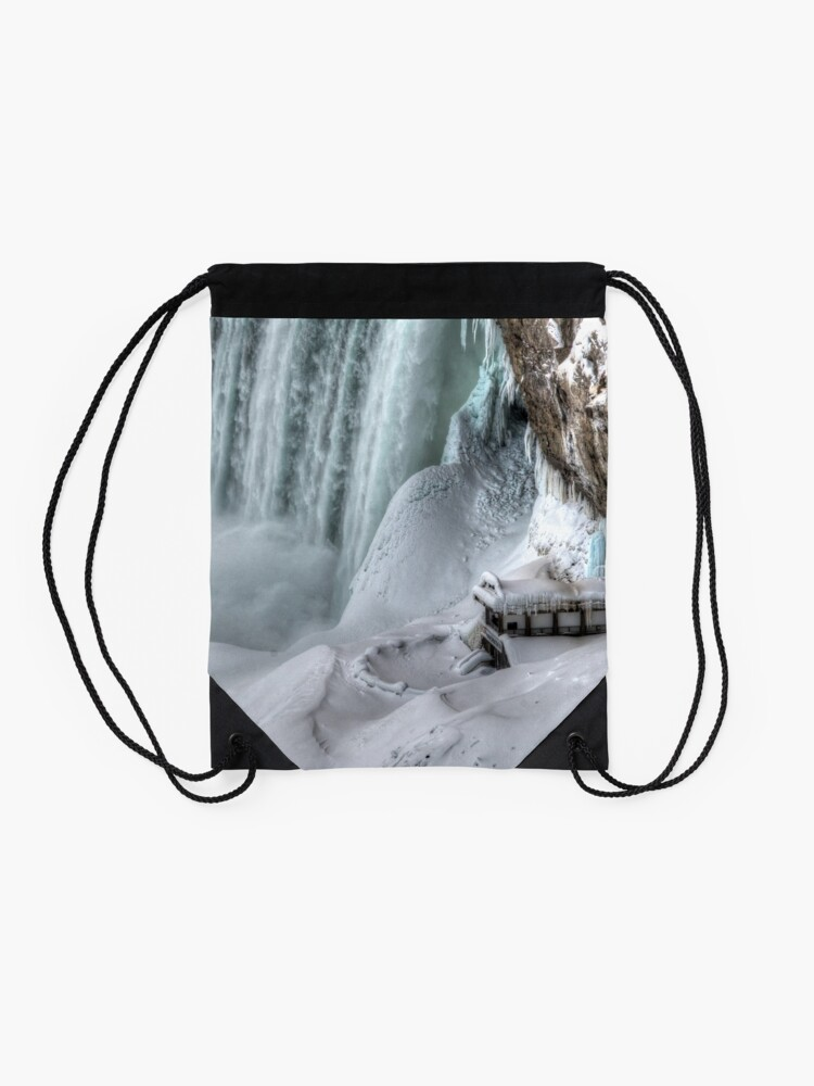 Alternate view of House by the falls Drawstring Bag