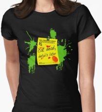 ReAnimator Cat Dead, Details Later Womens Fitted T-Shirt