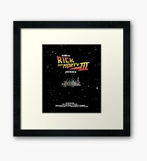 BTTF Style Rick And Morty Season 3 Poster Framed Print