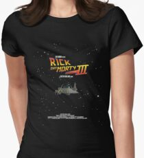 BTTF Style Rick And Morty Season 3 Poster Womens Fitted T-Shirt