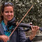 Young violinist, modern violin by indiafrank
