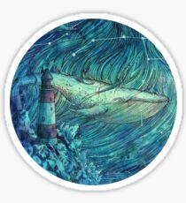 Moonlit Sea Sticker