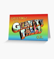 Greetings from Gravity Falls, OR Greeting Card