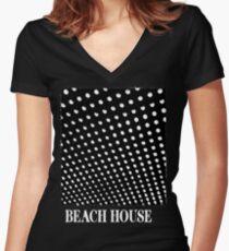 Camiseta entallada de cuello en V Casa de playa Bloom