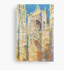 1894-Claude Monet-Rouen Cathedral, West Façade, Sunlight-65 x 100 Canvas Print
