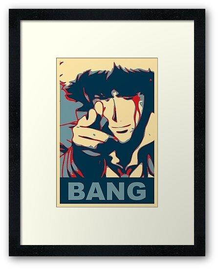 "Cowboy Bebop - Bang - Spike Spiegel"" Framed Prints By Tikanesia"