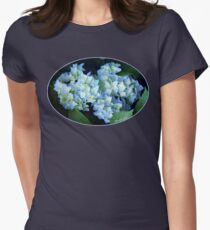 Hydrangea ~ Rainy Day Blues Womens Fitted T-Shirt