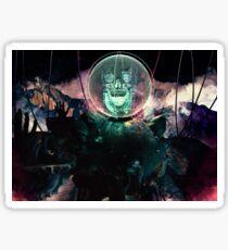 Wire Skull- Full Landscape Sticker