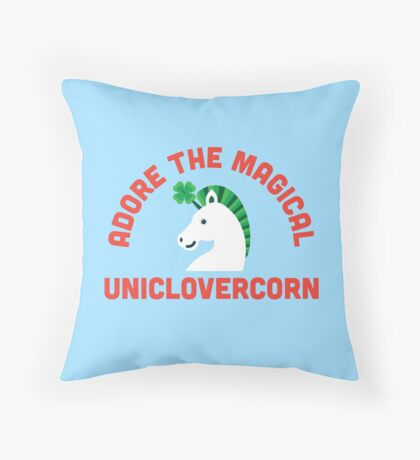 Adore the Magical Uniclovercorn Throw Pillow