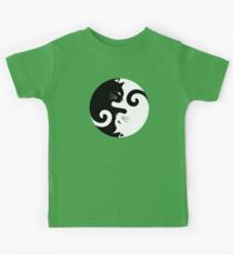 Ying Yang Cats - Black and white Kids Clothes