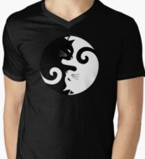Ying Yang Cats - Black and white T-Shirt