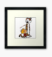 Calvin And Hobbes Fun Framed Print