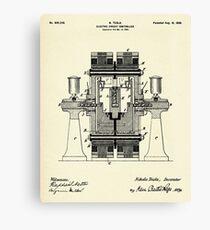 Electric Circuit Controller-1898 Canvas Print