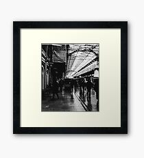 London Paddington - Black and White Framed Print