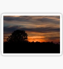 Sunset and clouds Sticker