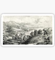 Darrynane Abbey - Ireland the Home of O'Connell - 1869 - Currier & Ives Sticker