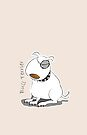 Bull terrier by Diana-Lee Saville