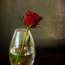 Mother's day, rose in glass by Luisa Fumi