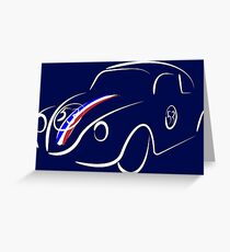 Not Just a Car, it's Herbie! Greeting Card