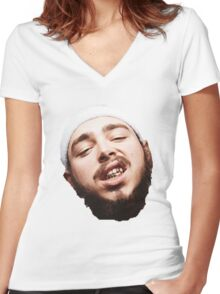Post Malone - White Iverson Women's Fitted V-Neck T-Shirt
