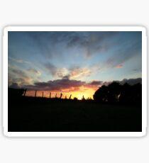 Wild sunset  - Derry Ireland  Sticker