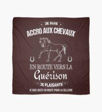 Carré Foulard motif cheval Accro aux Chevaux Horse Scarf scarve design Scarf