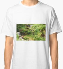 Mill Water Wheel and Stream Classic T-Shirt