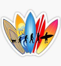 Surfer Evolution Sticker