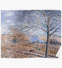 Alfred Sisley - Banks of the Loing - Autumn Effect Impressionism  Landscape  Poster
