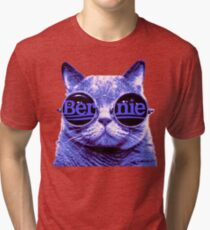 Solo Purple Cat 4 Bernie Tri-blend T-Shirt