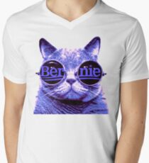 Solo Purple Cat 4 Bernie Men's V-Neck T-Shirt
