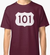 US Route 101 Sign - Contrast Version Classic T-Shirt
