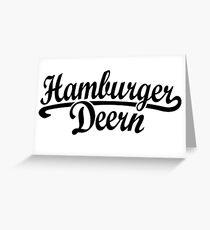 Hamburger Deern Classic (Schwarz) Greeting Card