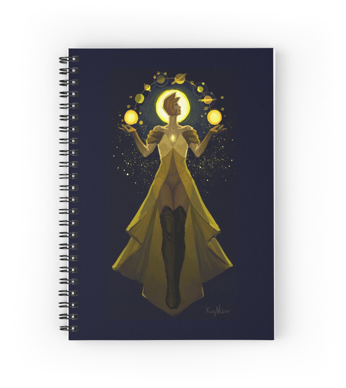 Yellow diamond mural spiral notebooks by kainebov for Yellow diamond mural