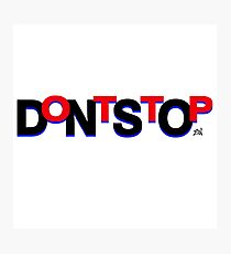 DontStop Design - Red Photographic Print