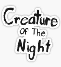 Creature of The Night Sticker