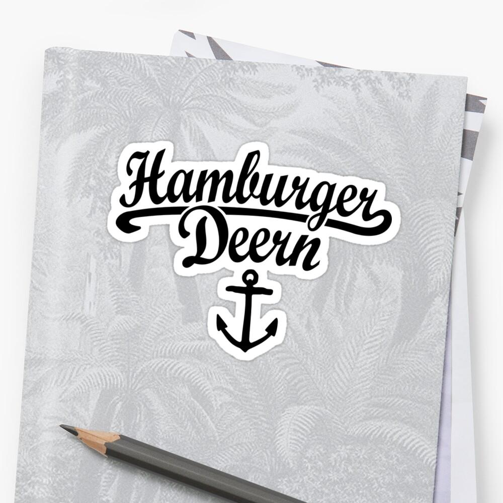 Hamburger Deern Classic Anker (Schwarz) by theshirtshops