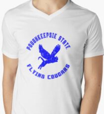 POUGHKEEPSIE STATE FLYING COUGARS Men's V-Neck T-Shirt