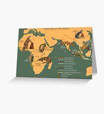 Die Pangolin-Karte der Welt Grußkarte