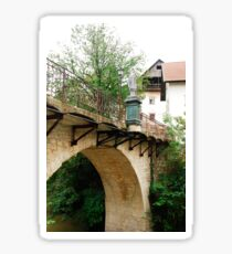 Capuchin's Bridge in Skofja Loka  Sticker
