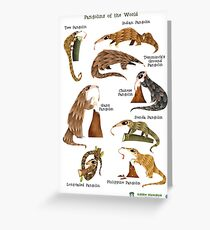 Pangolins of the World Greeting Card