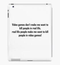 Video Games Quote iPad Case/Skin