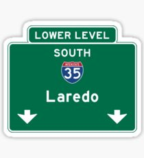 Laredo, Road Sign, Texas Sticker