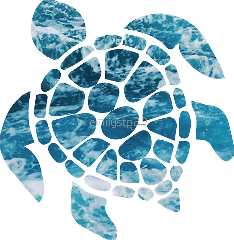 Quot Ocean Sea Turtle Quot Stickers By Emilystp23 Redbubble