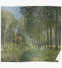 Alfred Sisley - Rest along the Stream. Edge of the Wood  Impressionism  Landscape  Poster