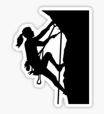 Climbing woman girl Sticker