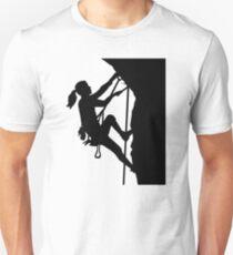 Climbing woman girl Unisex T-Shirt