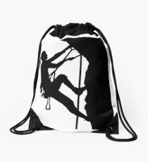 Climbing woman girl Drawstring Bag
